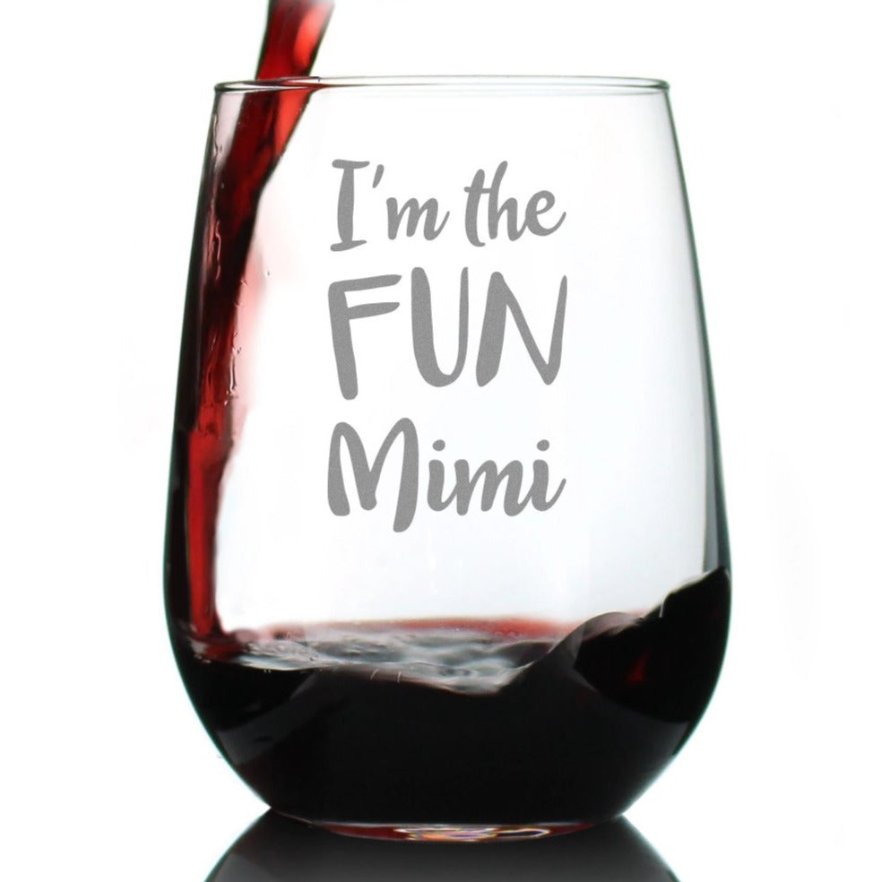 I'm the Fun Mimi - 17 Ounce Stemless Wine Glass