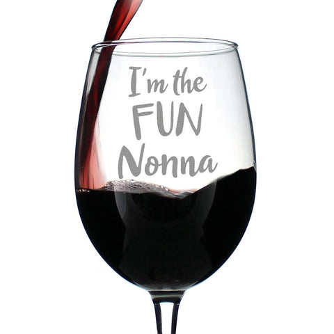 I'm the Fun Nonna - 16.5 Ounce Stem Wine Glass