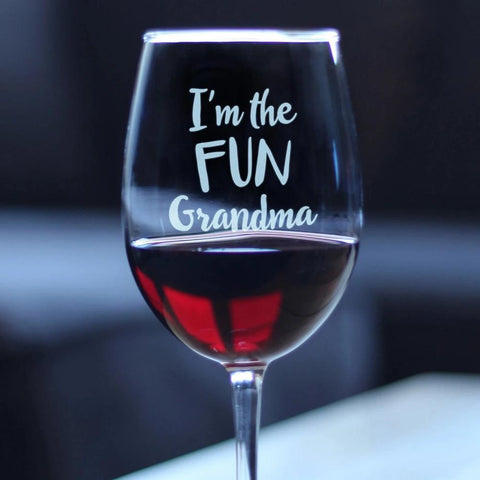 I'm the Fun Grandma - 16.5 Ounce Stem Wine Glass