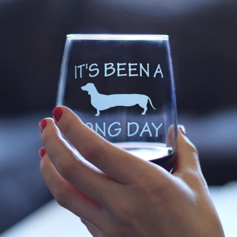 Image of It's Been A Long Day - 17 Ounce Stemless Wine Glass