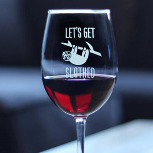Let's Get Slothed - 16.5 Ounce Stem Wine Glass