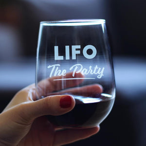 LIFO The Party - 17 Ounce Stemless Wine Glass