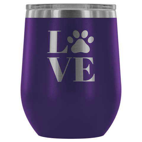 Image of LOVE Paw Print - Wine Tumbler