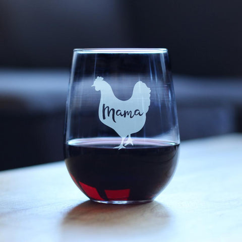 Image of Mama Hen - 17 Ounce Stemless Wine Glass