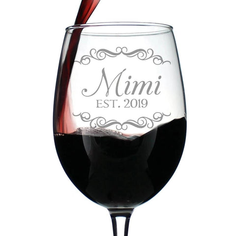 Mimi Est. 2019 - 16.5 Ounce Stem Wine Glass