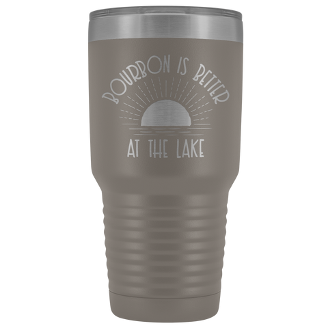 Image of Bourbon Is Better At The Lake - 30 oz Tumbler