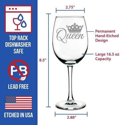 Image of Queen - 16.5 Ounce Stem Wine Glass