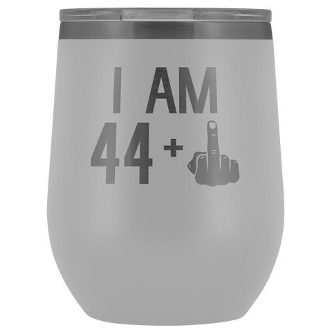 Image of 44 + 1 Middle Finger - Wine Tumbler