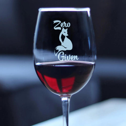 Image of Zero Fox Given - 16.5 Ounce Stem Wine Glass
