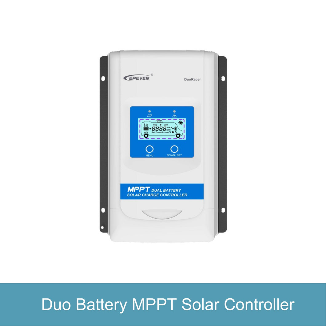 DuoRacer Series MPPT Dual Battery Solar Charge Controller (20-30A) by Epever