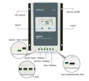 EPEVER 30a AN Series MPPT Solar Controller