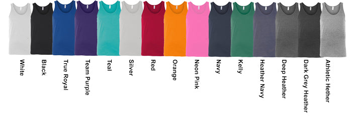 Canvas Unisex Tank Top Assorted Colors Available