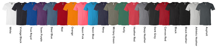 Canvas V-Neck Tees Assorted Colors Available