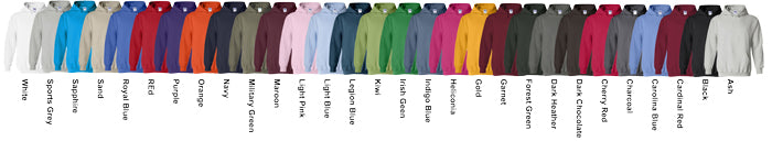 Gildan Unisex Hoodies Assorted Colors Available