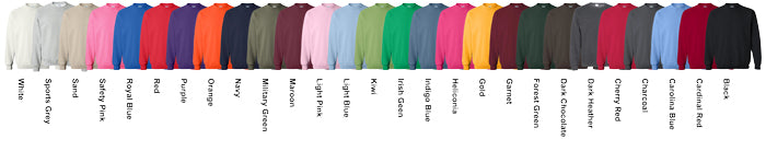 Gildan Unisex Crewneck Sweaters Assorted Colors Available