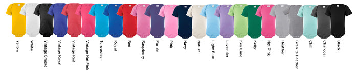 Rabbit Skins Infant Onesie Assorted Colors Available
