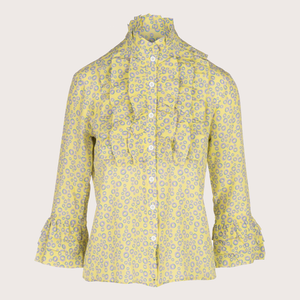 The Modern Ruffle Blouse-Silk
