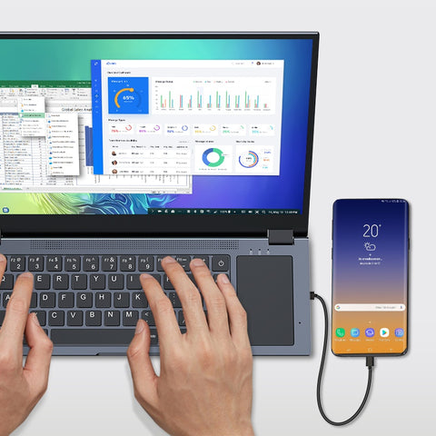 How to Connect a Smartphone to a Portable Monitor