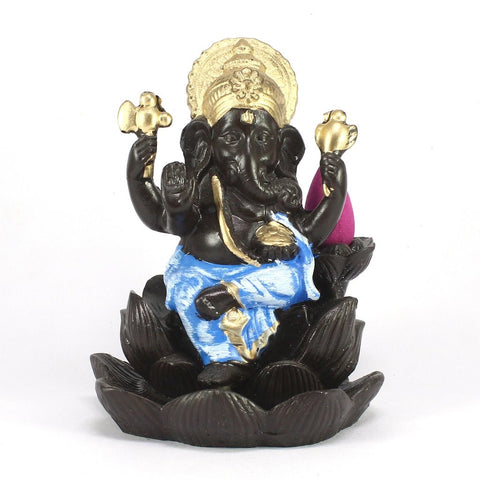 Lord Ganesha Backflow Cone Incense Holder