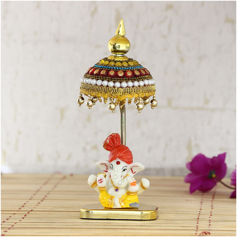 Lord Ganesha Showpiece with Chatri