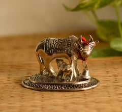 ecraftindia-handcrafted-cow-and-calf-figurine-silver_1