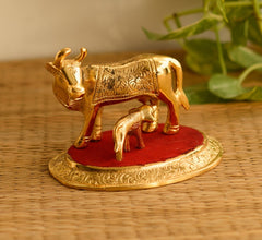 ecraftindia-golden-cow-with-calf-statue_1