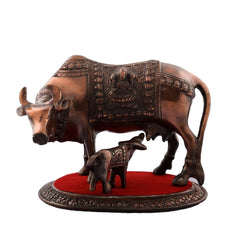 ecraftindia-kamdhenu-cow-and-calf-metal-figurine_1