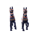 eCraftIndia Set of 2 Colorful Meenakari Marching Horses Figurine