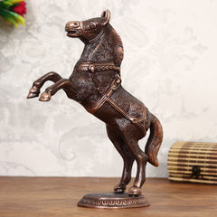 AAH508-eCraftIndia-Decorative-Jumping-Horse-Antique-Showpiece_1