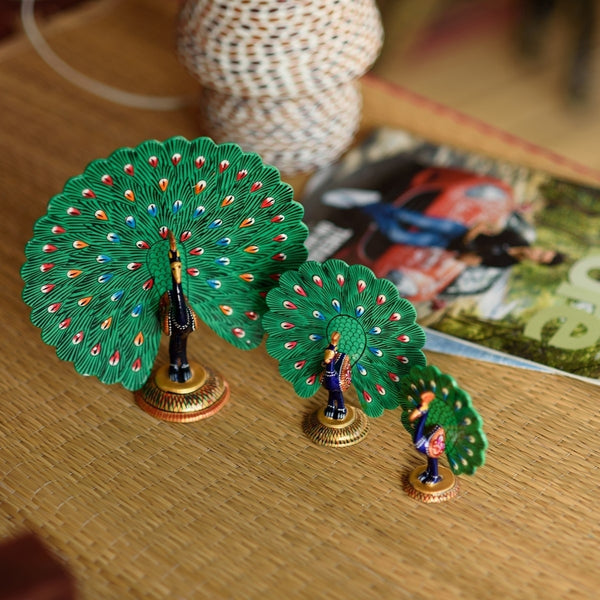 AAP502-eCraftIndia-Set-of-3-Coloful-Meenakari-Dancing-Peacocks-Figurine_1
