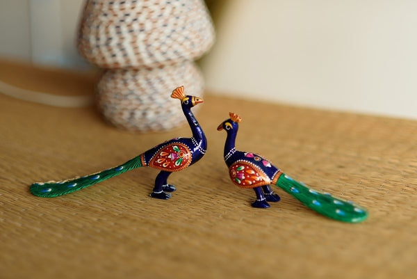 AAP504-eCraftIndia-Set-of-2-Coloful-Meenakari-Sitting-Peacocks-Figurine_1