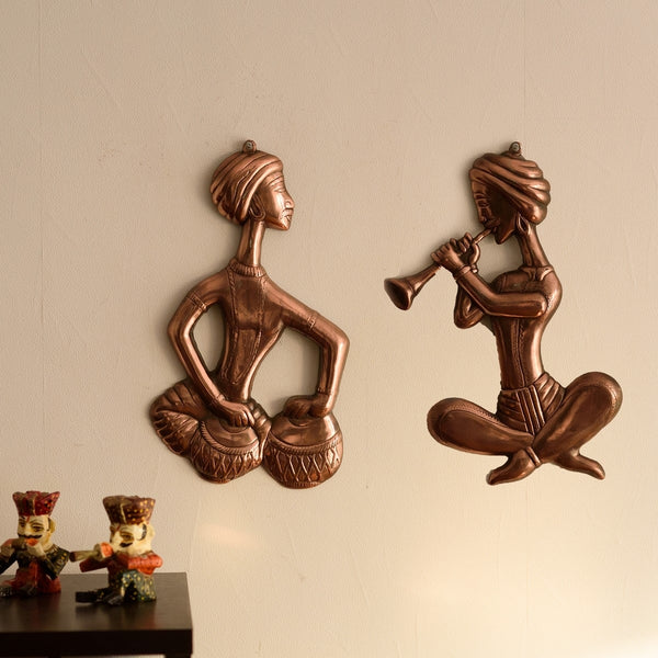 ecraftindia-set-of-2-musicians-metal-wall-hanging_1