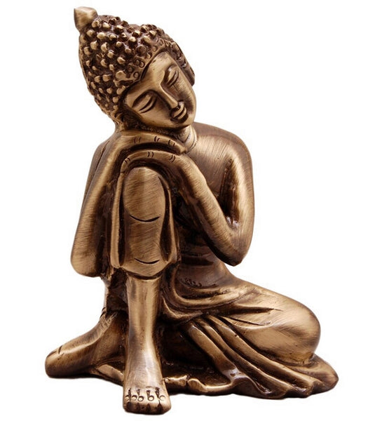 ecraftindia-metal-resting-buddha-on-knee_1