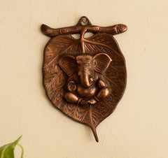 agg512-ecraftindia-metal-wall-hanging-of-lord-ganesha-on-leaf_1