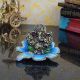 ecraftindia-metal-lord-ganesha-statue-on-sky-blue-leaf_2