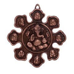 ecraftindia-metal-wall-hanging-with-9-variants-of-lord-ganesha_1