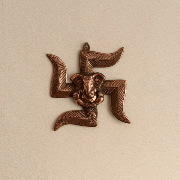 ecraftindia-lord-ganesha-on-swastik-metal-wall-hanging_1