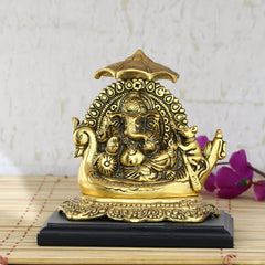 agg557-ecraftindia-golden-lord-ganesha-sitting-on-swan-throne_1