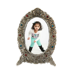 ecraftindia-antique-finish-white-metal-splendid-photo-frame_1
