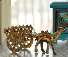 ecraftindia-gemstone-studded-pure-brass-camel-cart-handicraft_1