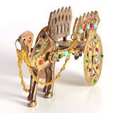 ecraftindia-gemstone-studded-pure-brass-camel-cart-handicraft_4