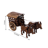 eCraftIndia Brass Antique Finish Village Bullock Cart