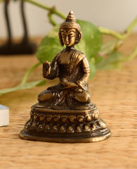 ecraftindia-antique-finish-brass-meditating-buddha_1
