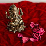 ecraftindia-antique-finish-brass-lord-ganesha-on-lotus_3