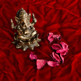 ecraftindia-antique-finish-brass-lord-ganesha-on-lotus_2