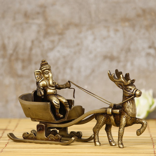 BGG516-eCraftIndia-Brass-Lord-Ganesha-Savari-Antique-Showpiece_1