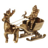 eCraftIndia Brass Lord Ganesha Savari Antique Showpiece
