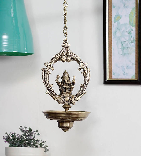 ecraftindia-brass-lord-ganesha-hanging-oil-wick-diya-22inch-long-chain_1