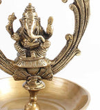 ecraftindia-brass-lord-ganesha-hanging-oil-wick-diya-22inch-long-chain_4
