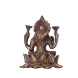 ecraftindia-antique-finish-brass-goddess-laxmi-on-lotus_5